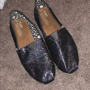 Black Sparkly Toms